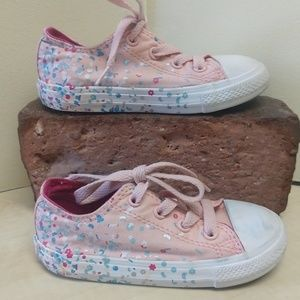 Converse All Star Pink Confetti Toddler Girls 8